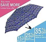 KUD 42 inch Compact Lightweight Auto-open umbrella (Multicolored D)