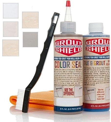 Splash Shield Kit - Grout Shield GS8IGR 8-Ounce Color Seal Kit, Gray