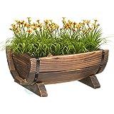 Vintiquewise(TM) Half Barrel Garden Planter