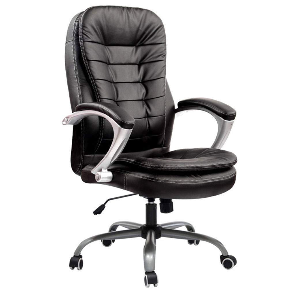 オフィスチェア/回転チェア/会議用チェア、モダンミニマリスト、エアクッションシート、前後調整可能、強い耐荷重、人間工学的、360度回転、オフィスワーカーに最適、学生用シート  black B07PBDGJNS