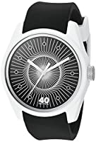40Nine Men's 'Eclectic' Quartz Plastic and Silicone Casual Watch, Color:Black (Model: 40N3.7BK)