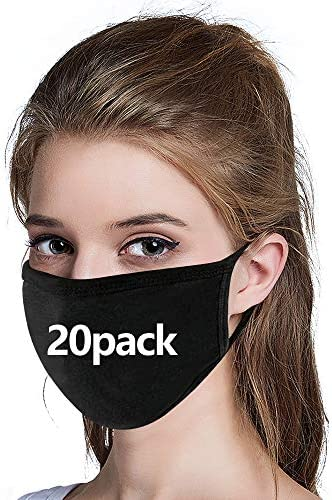 20 pack Cotton Unisex Face Reusable for Cycling Camping Travel for Kids Teens Men Women