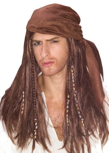 Brown Caribbean Pirate Wig (Pirate Of Caribbean Costume)