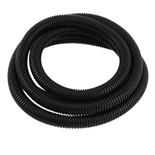 Plastique 12mm x 15,8 mm Corrugated fil tubes 2M Noir Longueur