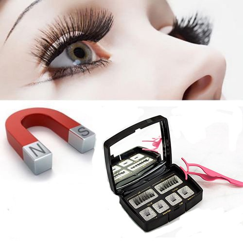 YUOIOYU New Natural Magnetic Eyelashes No Glue 100% Handmade Reusable Magnetic Lashes