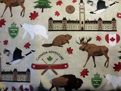 Buy canadian wildlife fabric