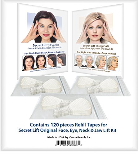 120 Piece Refill Tapes for Instant Face, Neck and Eye Lift Kit
