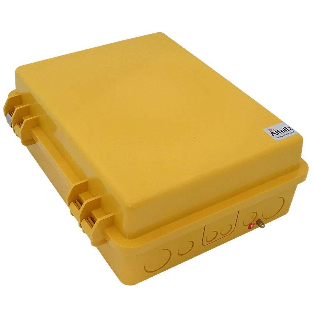 Altelix Yellow Pole Mount NEMA Enclosure (12'' x 8'' x 4'' Inside Space) Polycarbonate + ABS Weatherproof Outdoor High Visibility NEMA Box by Altelix (Image #4)