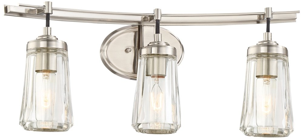 Minka Lavery 2303-84 Poleis 3-Light Bath Vanity in Brushed Nickel best