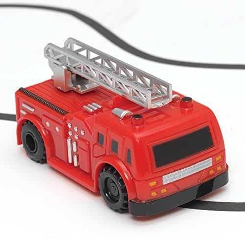 Bits and Pieces - Self-Driving Fire Engine Toy - Fire Truck Will Drive Along Any Path Drawn by Black