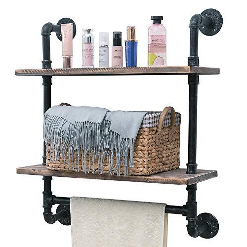 wood bath towel rack - 8