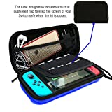 AIMAKE Nintendo Switch Carrying EVA Waterproof Hard Protective Deluxe Travel Case with 8 Game Cards for Nintendo Switch(Blue)
