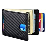 Mens Money Clip Wallet, RFID Blocking Carbon Fiber Slim Front Pocket Wallet (Carbon Fiber 2)