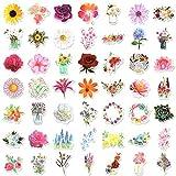 100pcs Flower Stickers for Scrapbook, Waterproof