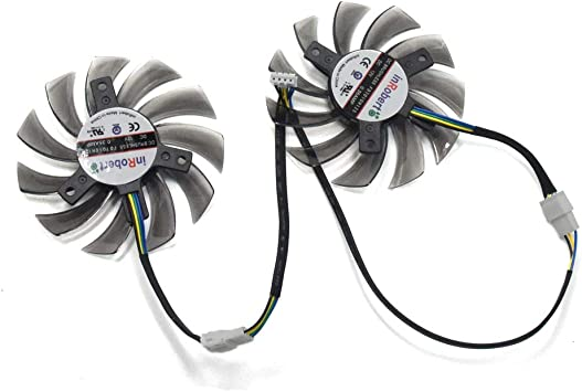 inRobert 75mm VGA Graphic Card Cooler Fan Replacement For Sapphire HD 6930 HD 7850 7870 ASUS GTX 570 760 770 Video Card