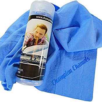 Champion Chamois Synthetic Ultimate Drying Shammy Towel For Car, Boat or Home - Lint & Streak Free