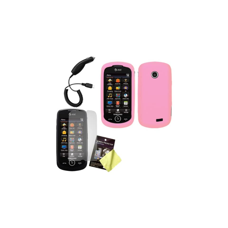 Light Pink Silicone Skin / Case / Cover, LCD Screen Guard