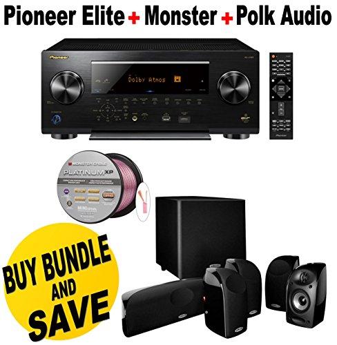 Pioneer-Elite-112-Channel-Class-D3-Network-AV-Receiver-Black-SC-LX901-Polk-Audio-51-TL1600-Speaker-System-Monster-Platinum-XP-Clear-Jacket-MKIII-50-Compact-Speaker-Cable