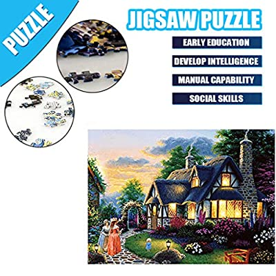 Jigsaw Puzzle for Adults 500 Piece Large Puzzle, Vintage Paintings Landscape Jigsaw Puzzle 50 x 40 cm (C): Office Products
