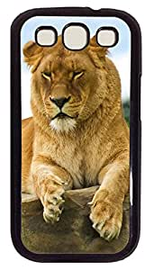 Samsung S3 Case Lioness Lying On The Stone PC Custom Samsung S3 Case Cover Black
