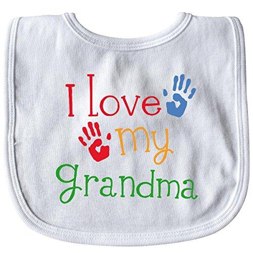 - Inktastic - I Love My Grandma Baby Bib White 10d00