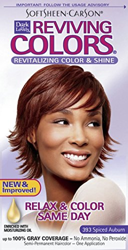 SoftSheen-Carson Dark and Lovely Reviving Colors Nourishing Color & Shine, Spiced Auburn 393 (Best Hair Dye For Ethnic Hair)