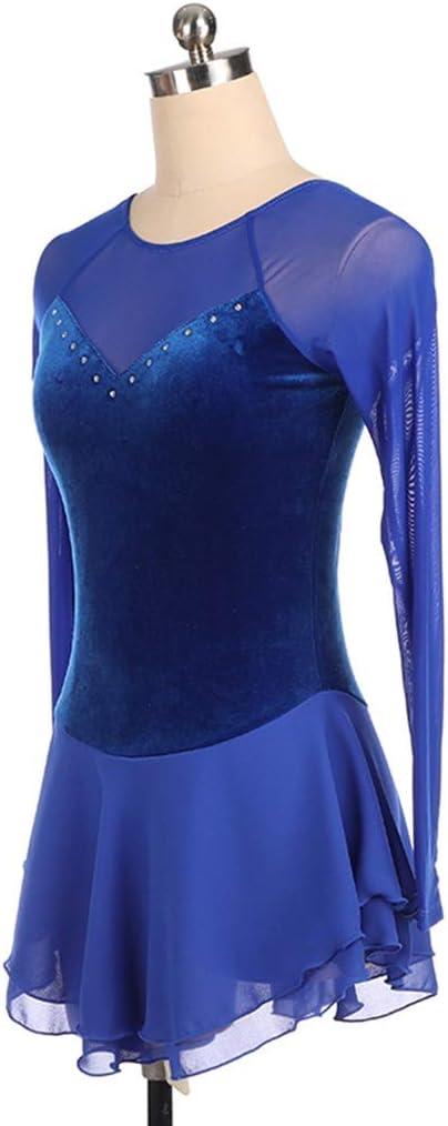 Amazon.com: QINJLI - Vestido de patinaje artístico, de ...