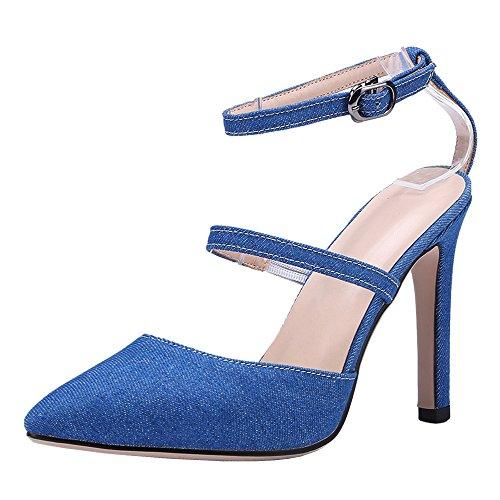 Blue Talon Bout Femmes Sandales À Pointu Taoffen Aiguille 0qgpnxPnw