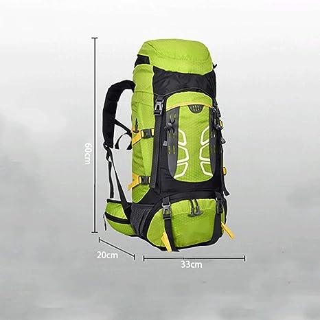 KIOio Hombro Exterior Bolsa de Deporte 50 + 5L Marco Interno Bolsa de Alpinismo de Nylon Impermeable Viaje Escalada en Roca Mochila al Aire Libre (Color ...