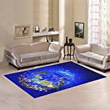 ADEDIY Vogue Custom Rug Cover Muslim islamic Holiday Colorful eid fanous lanterns Area Rug Indoor Carpet Custom Home Decor Mat 7'x5'