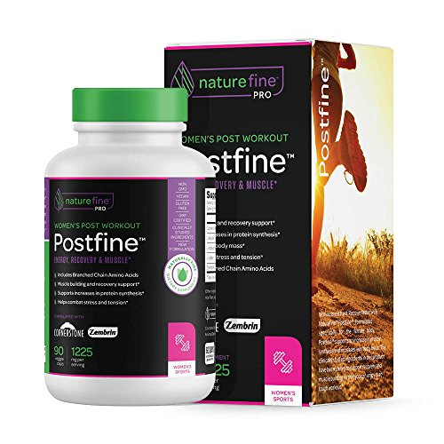 Powerful Post Workout Supplement for Women| Supports Recovery, Muscle, Diet | Reduce Stress and Fatigue | PostFine ™ by NatureFine | 90 Veggie Capsules
