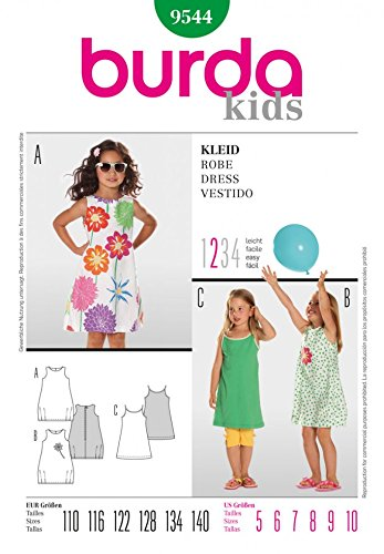 Burda Children\'s Sewing Pattern 9544 - Dresses Ages: 5-10: Amazon.co ...