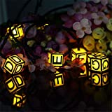 TechCode Solar LED Lighting, Waterproof ABC Letters Solar String Lights Fairy Decorative Lighting Firefly Lamps for Indoor/Outdoor, Patio, Garden, Wedding Party Festivals Decoration(Warm White)
