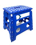 Folding Step Stool 13 Inches Height by Myth with Anti-Slip Surface Great for Kitchen, Bathroom, Bedroom, Kids or Adults Super Strong Holds Up to 330 LBS (BLUE)