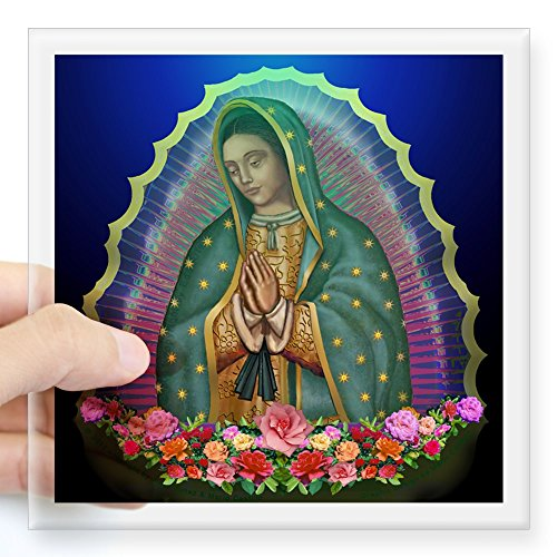 (CafePress Guadalupe Glow Square Sticker 3