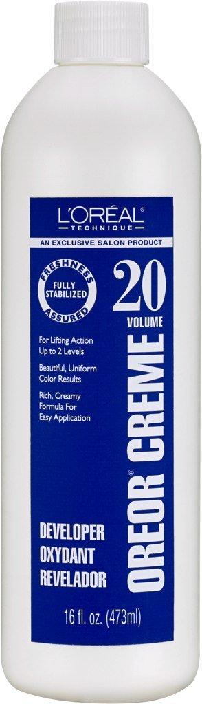 Loreal Oreor Creme 20 Volume Developer 16 Ounce (473ml) (6 Pack)