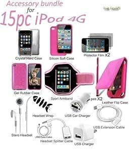 15in1 Accessory Bundle Kit 4 iPod Touch 4G 4th Gen GirlFriend