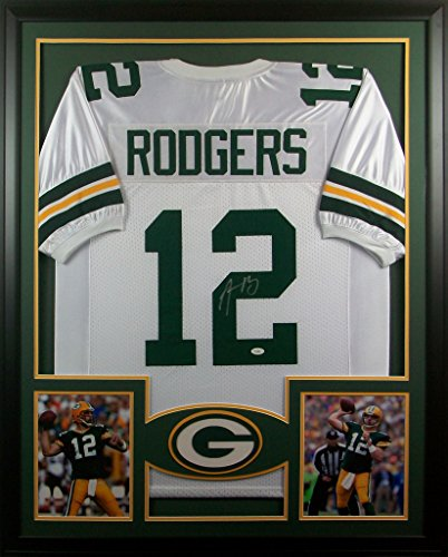 Aaron Rodgers Framed Jersey Signed JSA COA Autographed Green Bay Packers