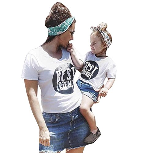 Winsummer Mom&Me Funny Mommy and Baby Matching T-Shirt Short Sleeve Summer Tees Outfits Parenr-Child Clothes (Kid, 5T) (Funny T-shirt Shirt Adults)