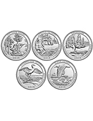 2018 P, D BU National Park Quarter 10 Coin Set Uncirculated