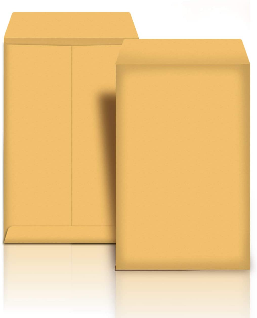 AmazonBasics Catalog Mailing Envelopes, Peel & Seal, 6x9 Inch, Brown Kraft, 100-Pack - AMZP12