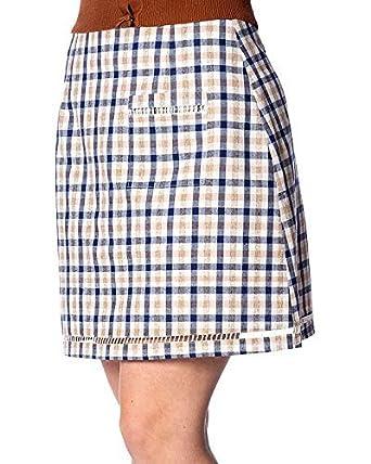 Banned Lets Vacay de Cuadros Rockabilly Pin-Up Minifalda - Azul ...