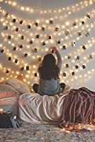 LED Photo Clip String Lights Home Decor Indoor/Outdoor, Battery Powered Lamp for Home/Party/Christmas Decoration Christmas Birthday Wedding Party Festival Decor (Warm White)
