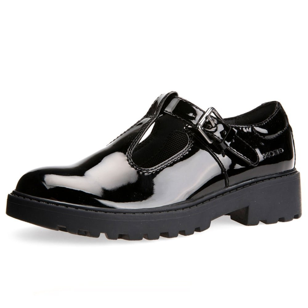 Geox J Casey G.O Girls Nappa Leather Shoes//Brogues