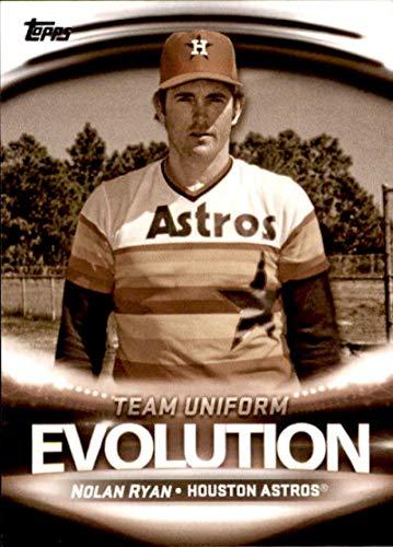 2019 Topps Evolution of Team Logos/Team Uniform #EL-10 Jose Altuve/Nolan Ryan Houston Astros Baseball Card
