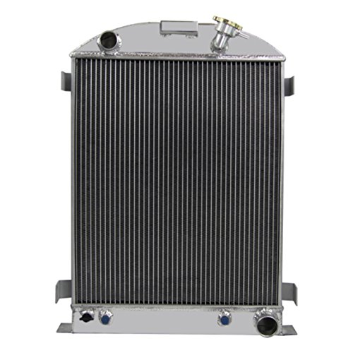 CoolingCare 4 Row Aluminum Radiator for 1930-1938 Ford Model A w/Chevy V8 Engine
