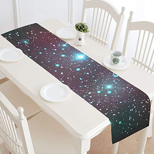 WIEDLKL Cosmic Table Runner Kitchen Dining Table Runner 16x72 Inch for Dinner Parties Events Decor (Cosmic Encounter Best Aliens)