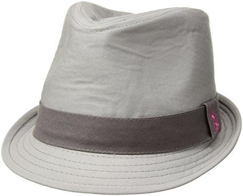 U.S. Polo Assn. Tonal Twill Women's Fedora Hat, Light Grey, One Size