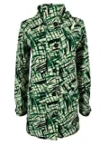 Tommy Hilfiger Women's Printed Hooded Parka Large Multi Green