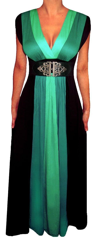 7d300f302a Funfash Plus Size Women Black Slimming Empire Waist Block Maxi Dress Made  in USA …